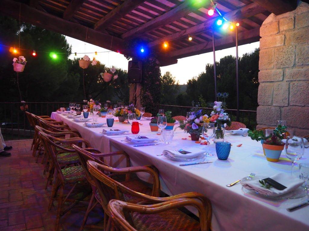 taula mediterrània sopar porxo Ca n'Alzina