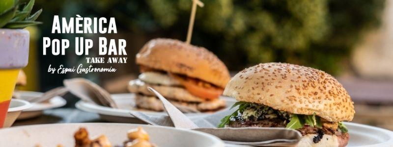 Amèrica pop up bar hamburgueses emportar igualada